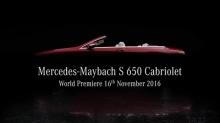 Mercedes-Maybach S650 Cabriolet จ่อเปิดตัวครั้งแรกในโลก